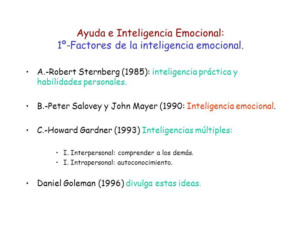 Ayuda e Inteligencia Emocional: 1º-Factores de la inteligencia emocional.