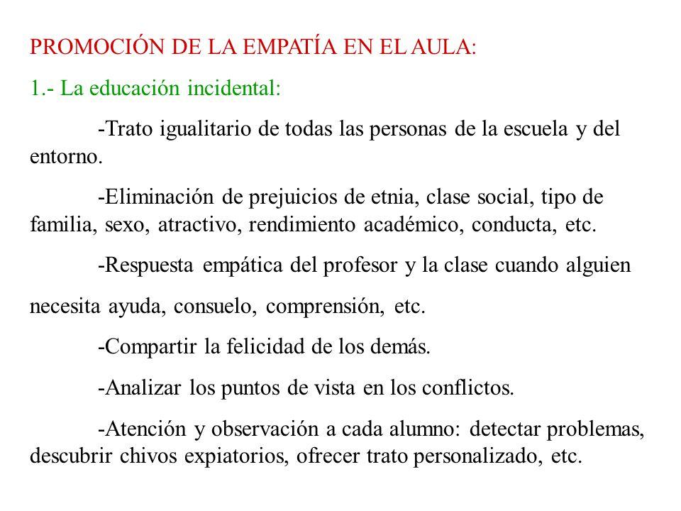 PROMOCIÓN DE LA EMPATÍA EN EL AULA: