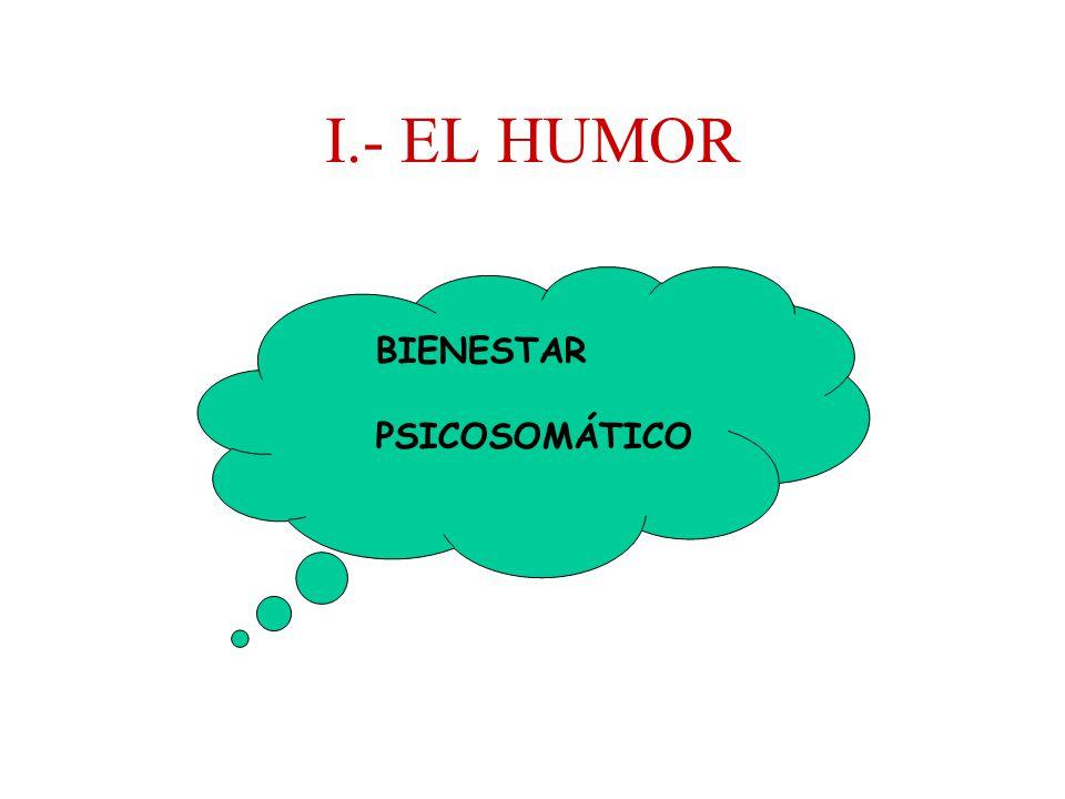 I.- EL HUMOR BIENESTAR PSICOSOMÁTICO
