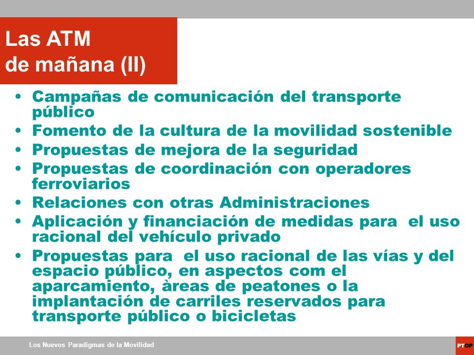 Las ATM de mañana (II) Campañas de comunicación del transporte público
