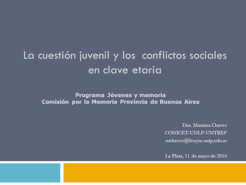 La cuestión juvenil y los conflictos sociales en clave etaria