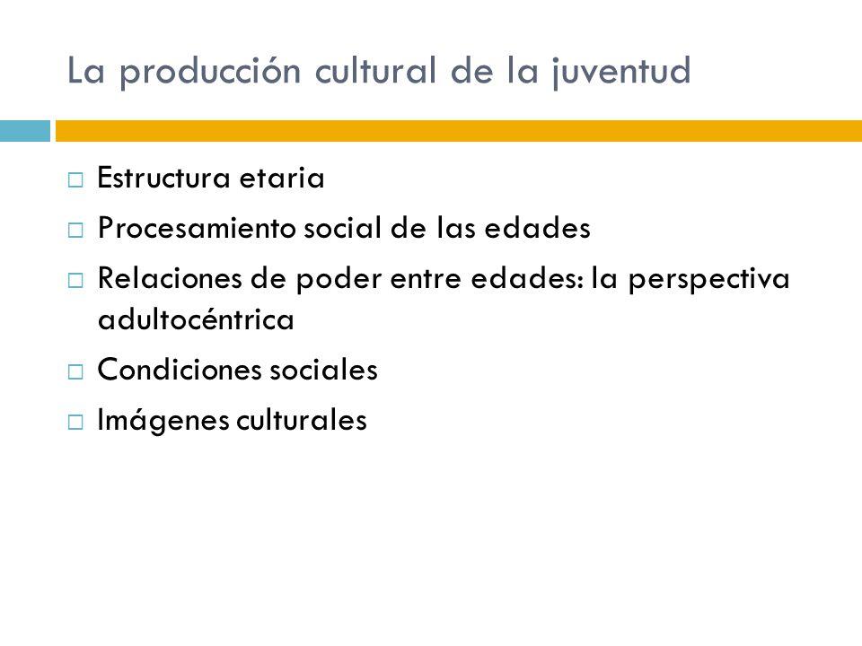 La producción cultural de la juventud