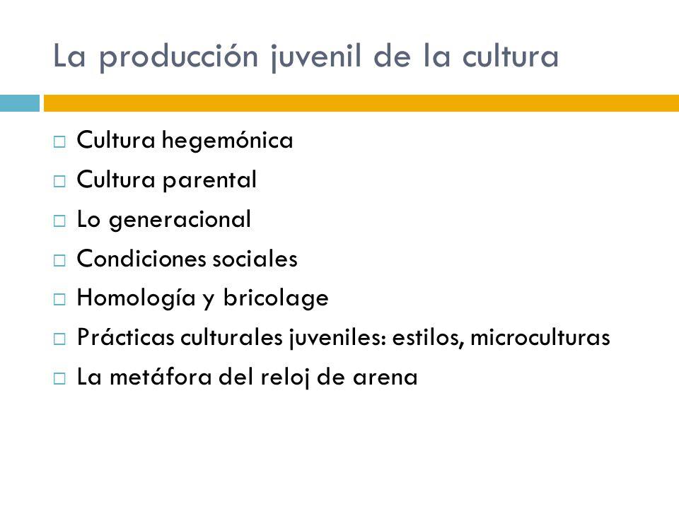 La producción juvenil de la cultura