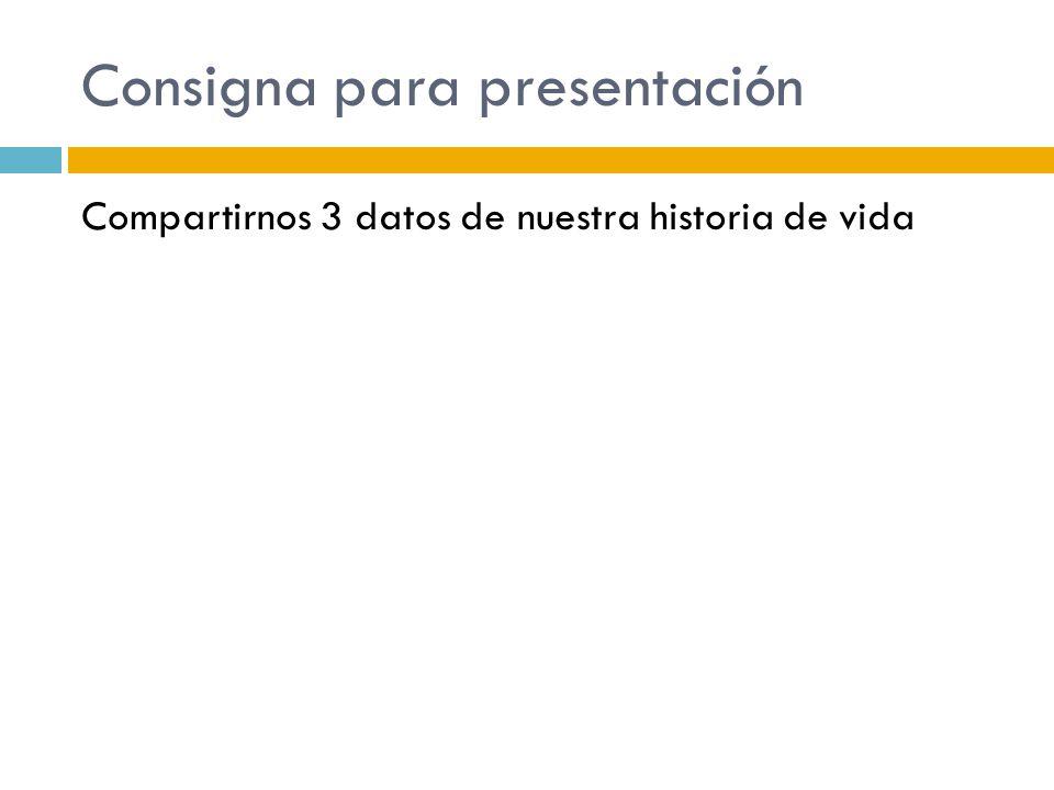 Consigna para presentación