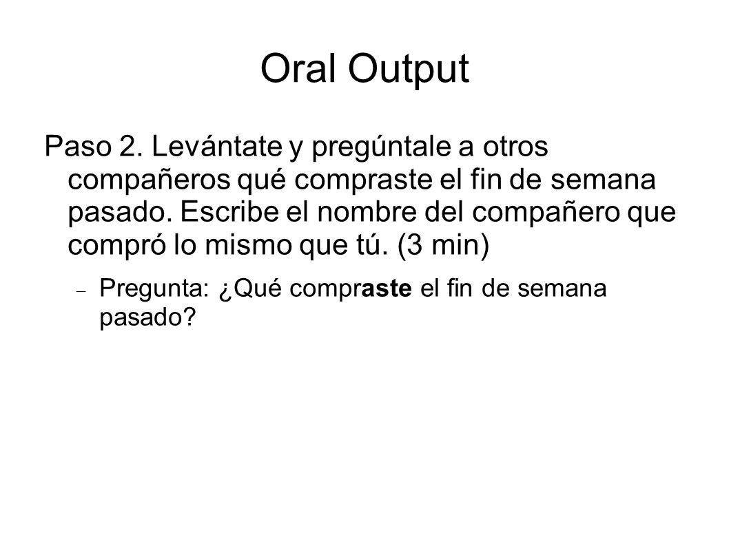 Oral Output