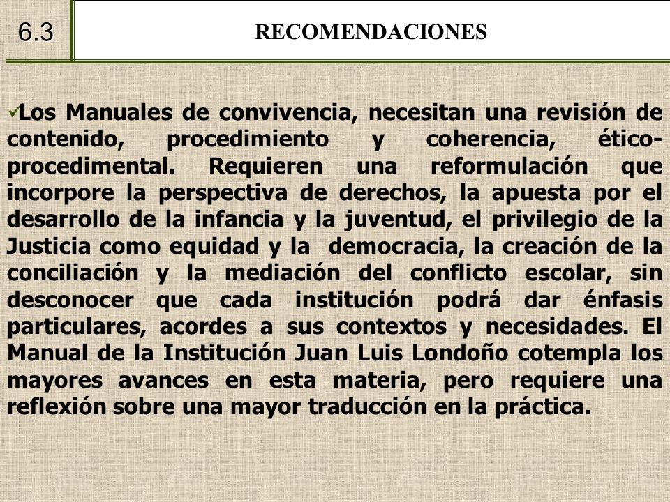 RECOMENDACIONES 6.3.