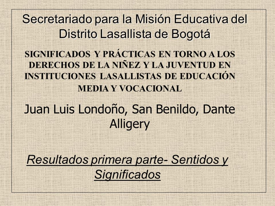 Juan Luis Londoño, San Benildo, Dante Alligery