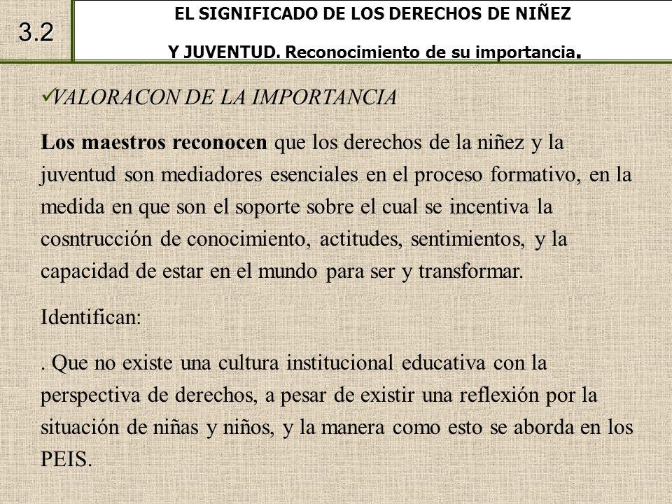 EL SIGNIFICADO DE LOS DERECHOS DE NIÑEZ