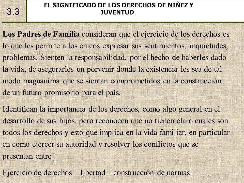 EL SIGNIFICADO DE LOS DERECHOS DE NIÑEZ Y JUVENTUD .