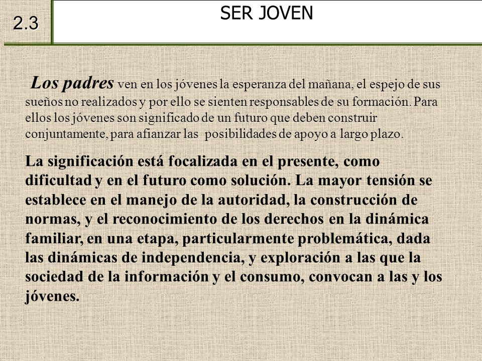 SER JOVEN 2.3.