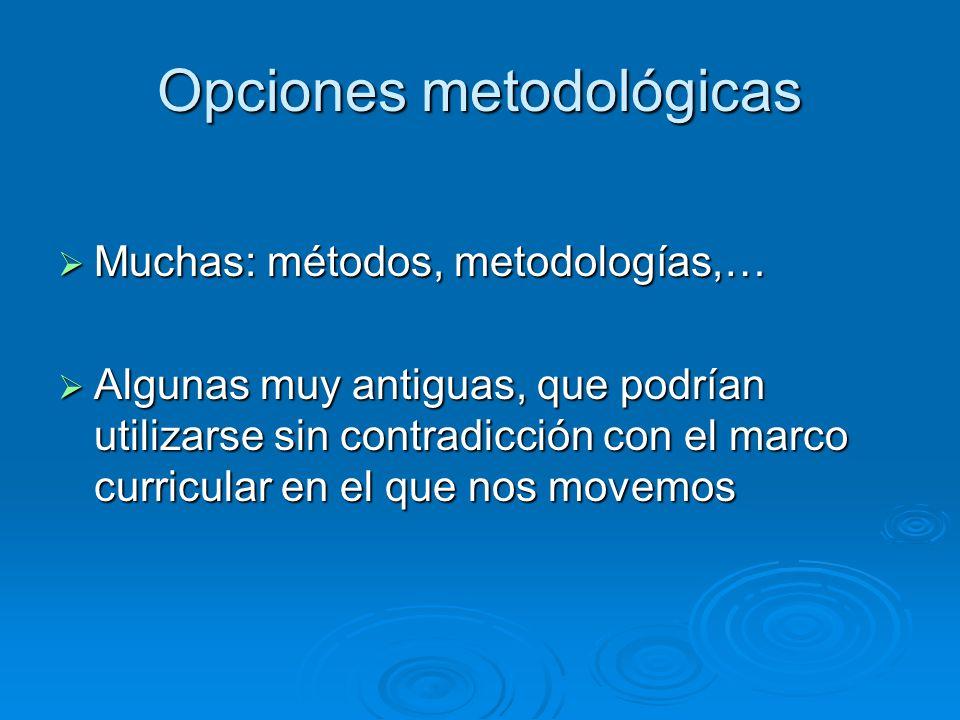 Opciones metodológicas