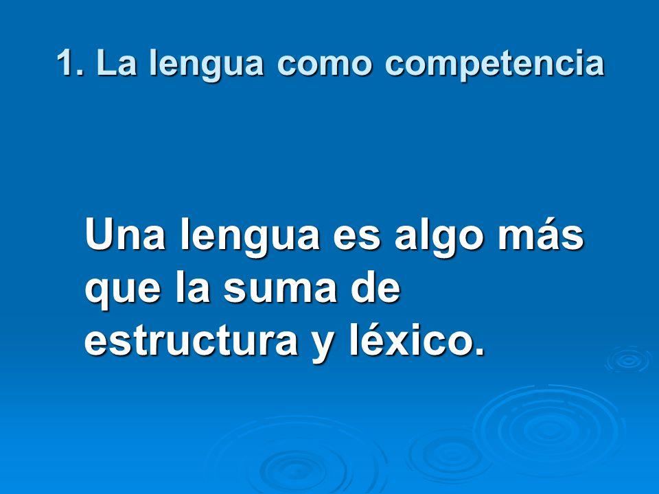 1. La lengua como competencia