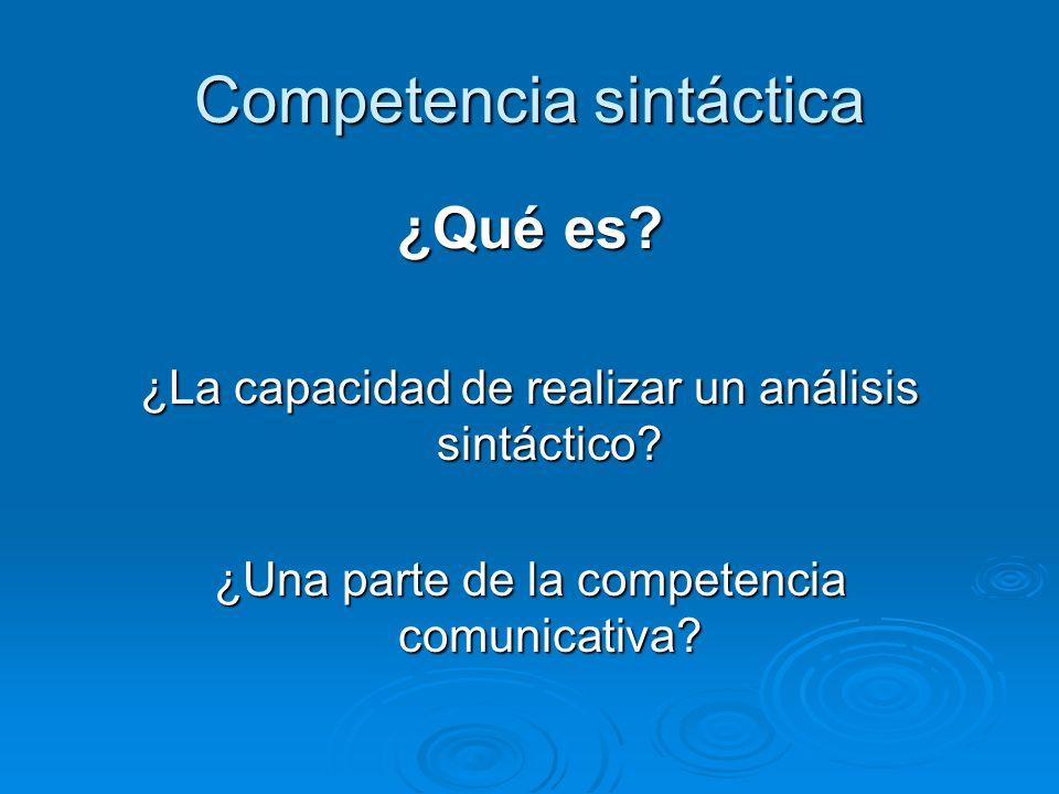 Competencia sintáctica