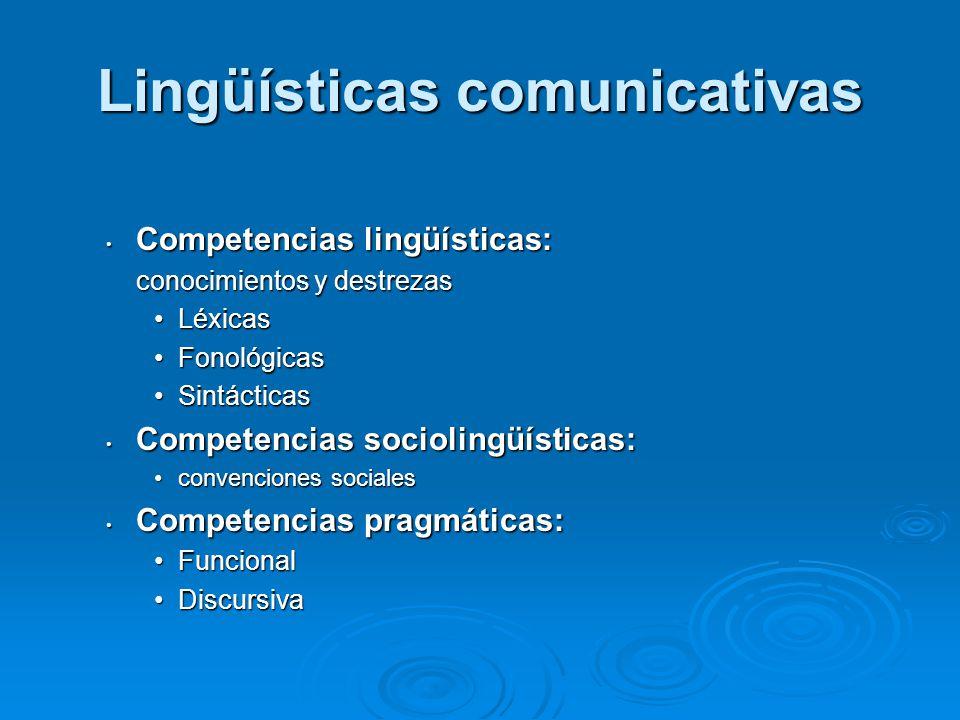 Lingüísticas comunicativas