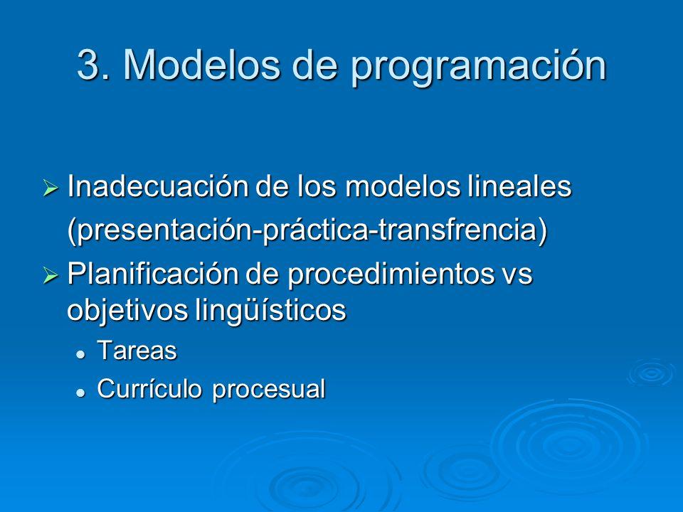 3. Modelos de programación