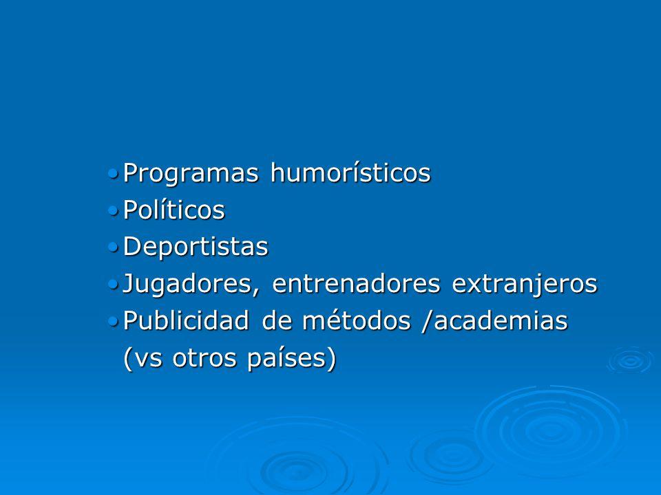 Programas humorísticos