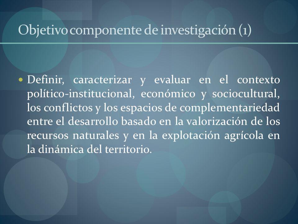 Objetivo componente de investigación (1)
