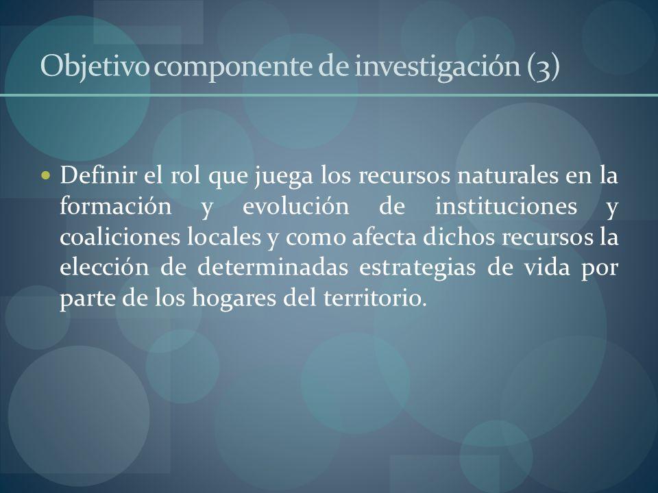 Objetivo componente de investigación (3)