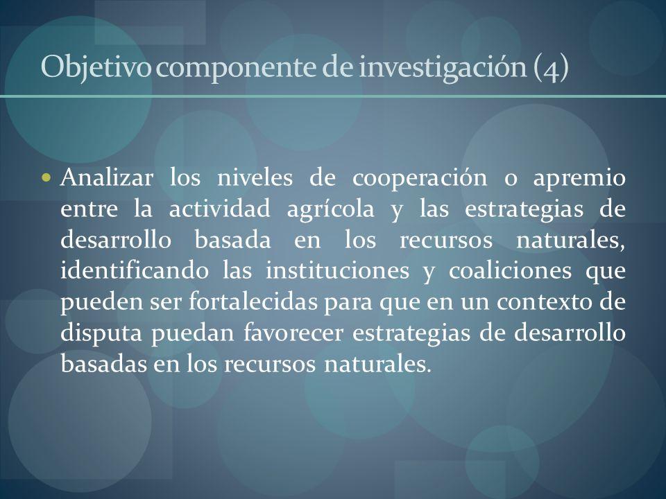 Objetivo componente de investigación (4)