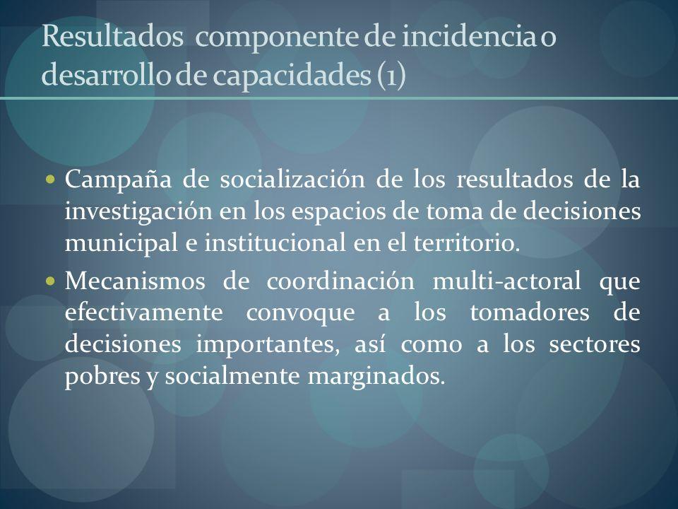 Resultados componente de incidencia o desarrollo de capacidades (1)