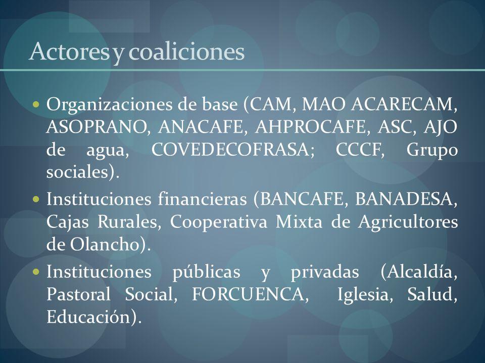Actores y coaliciones
