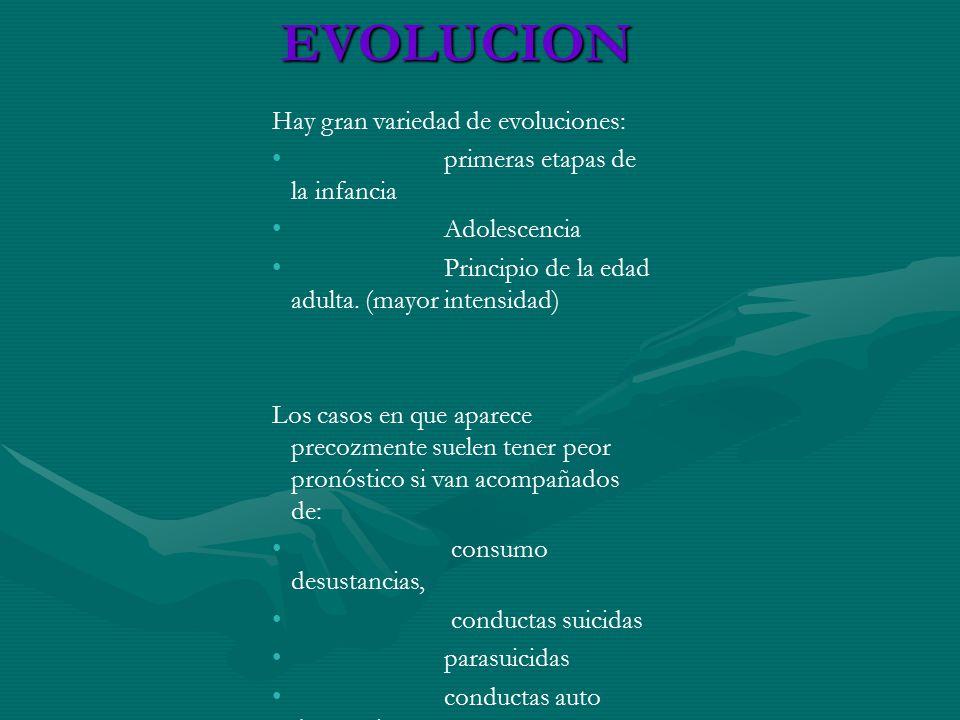 EVOLUCION Hay gran variedad de evoluciones:
