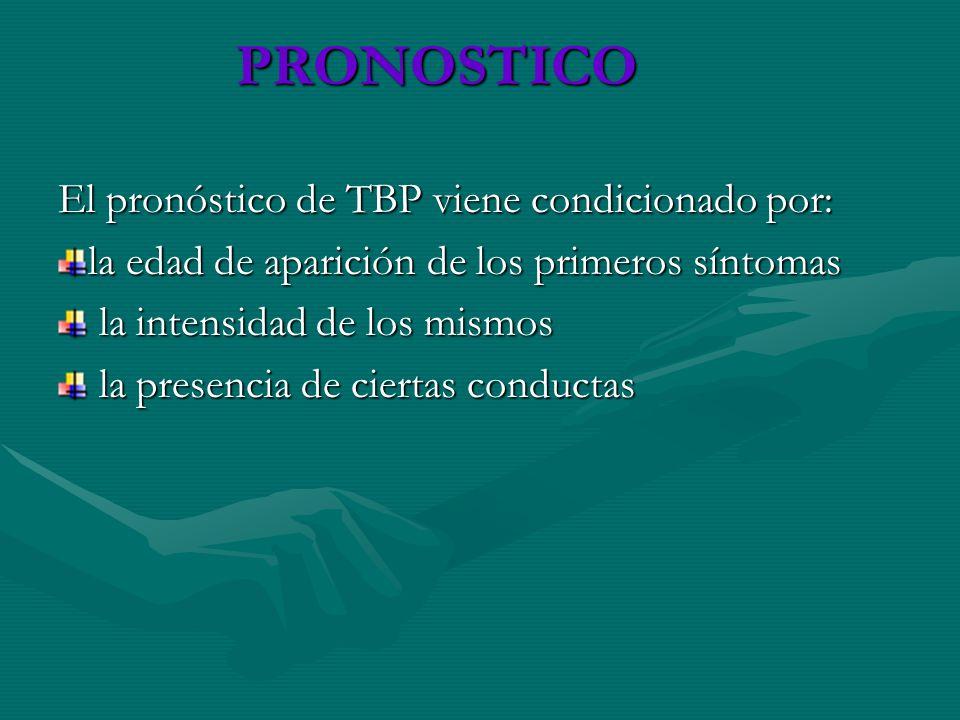 PRONOSTICO El pronóstico de TBP viene condicionado por:
