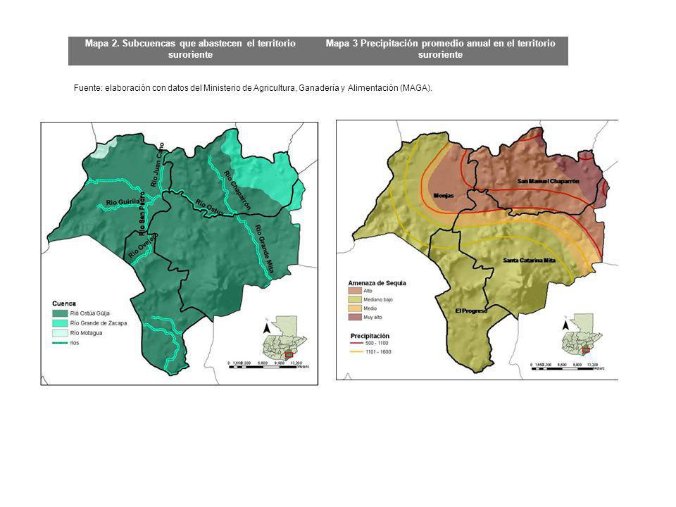 Mapa 2. Subcuencas que abastecen el territorio suroriente