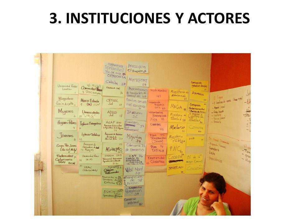 3. INSTITUCIONES Y ACTORES