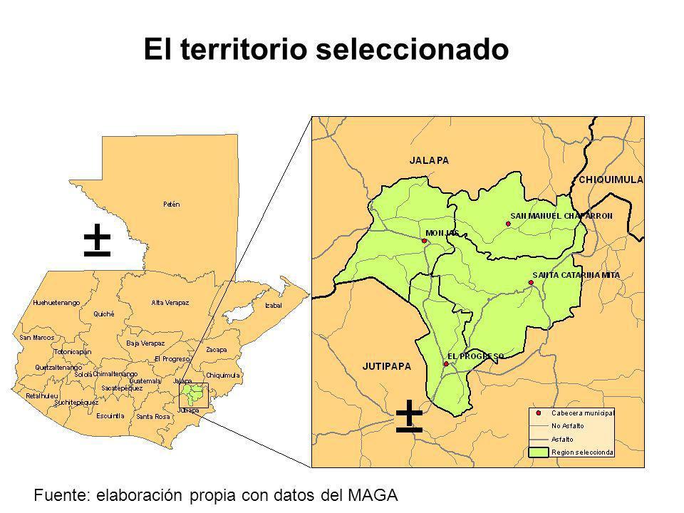 El territorio seleccionado