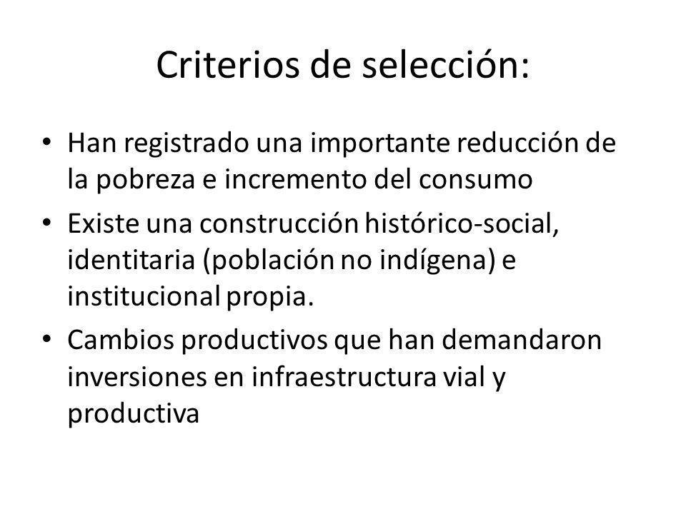 Criterios de selección: