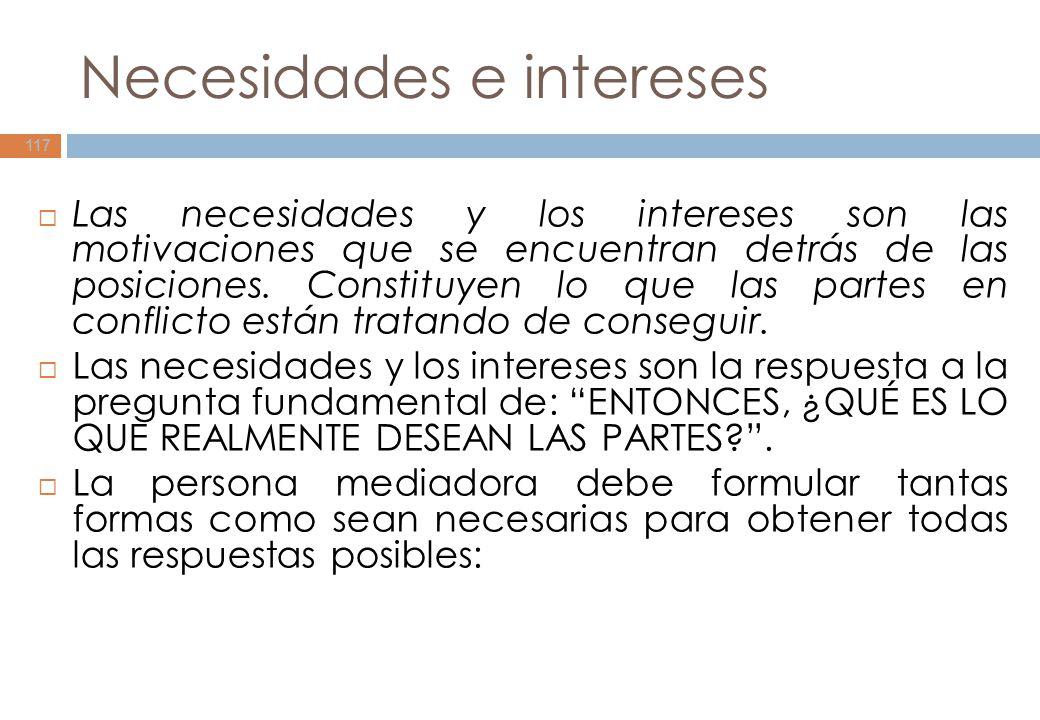 Necesidades e intereses