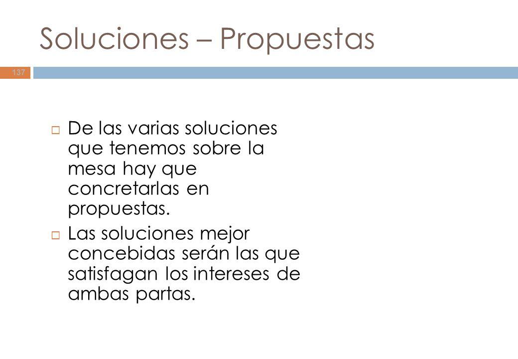 Soluciones – Propuestas
