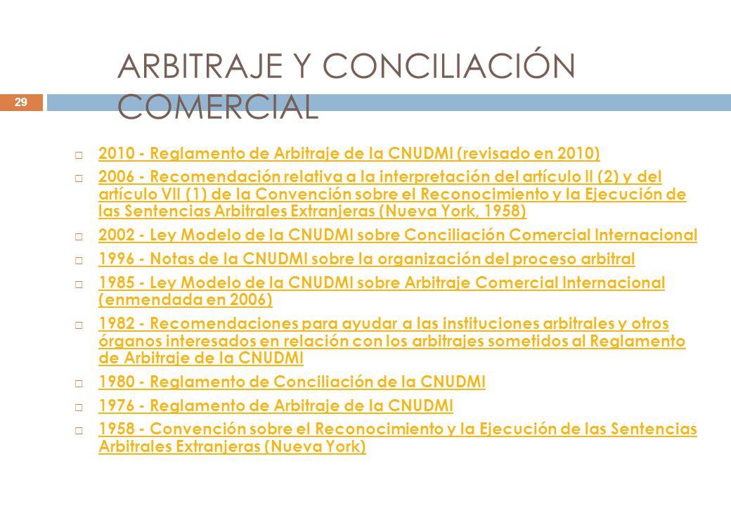 ARBITRAJE Y CONCILIACIÓN COMERCIAL
