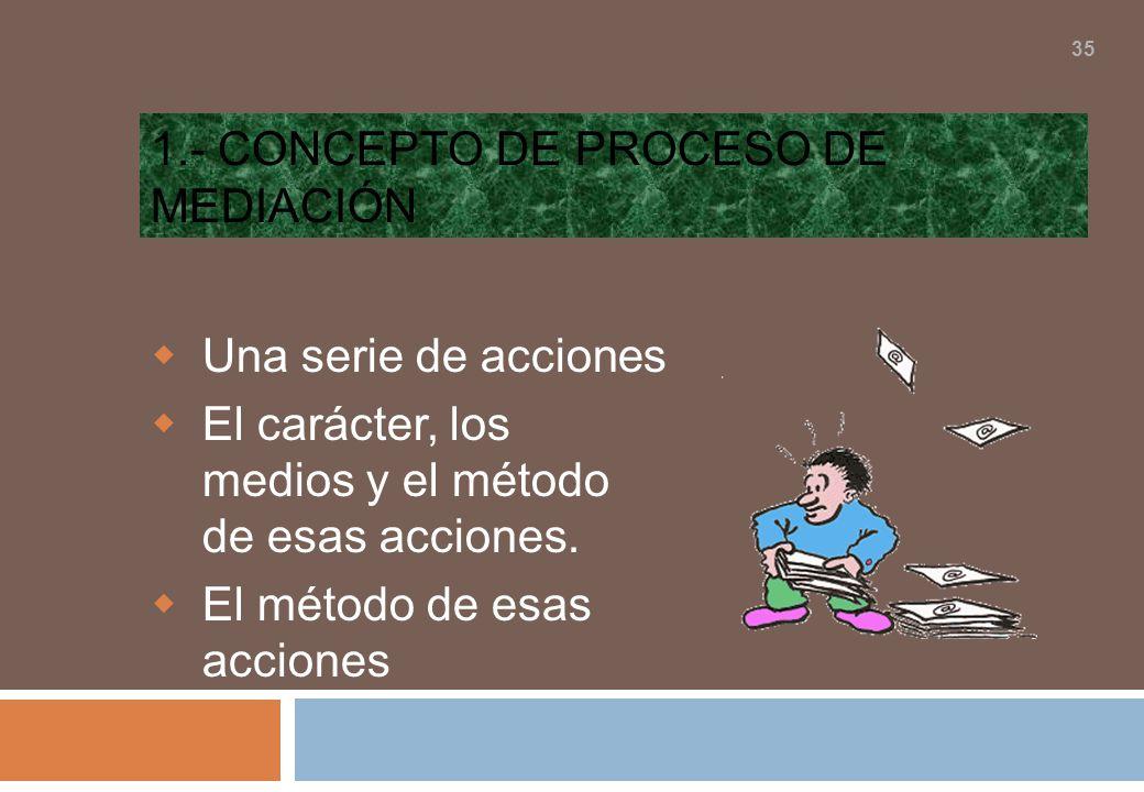 1.- Concepto de proceso de mediación