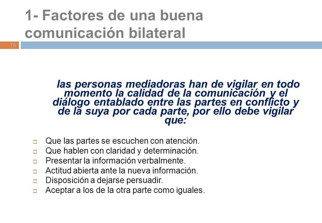 1- Factores de una buena comunicación bilateral