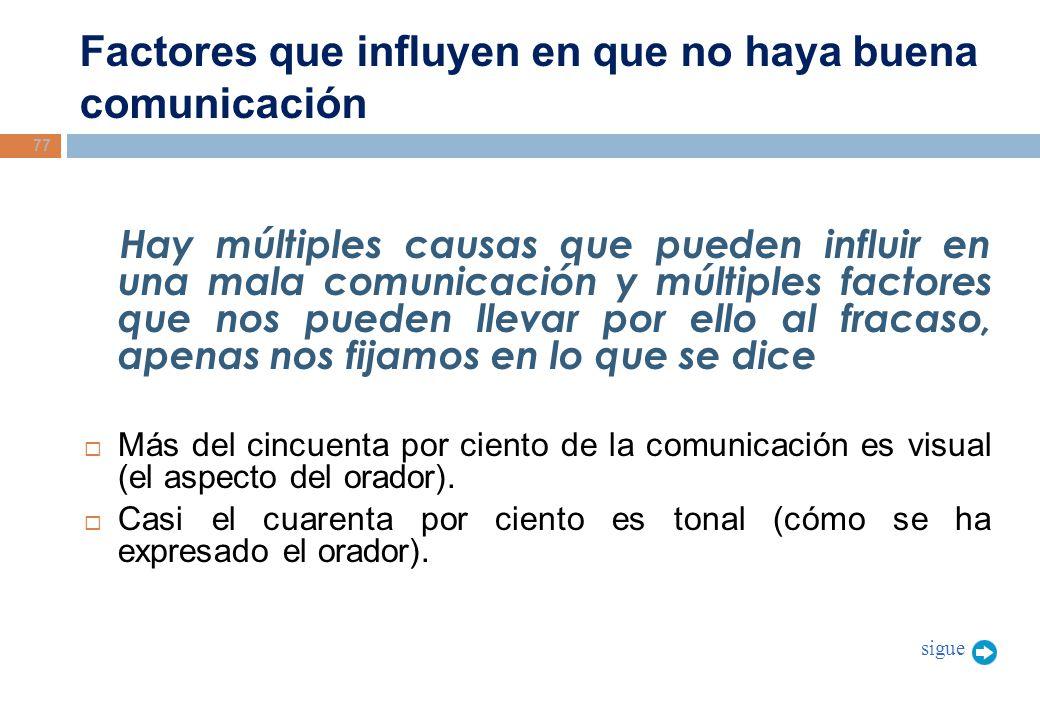 Factores que influyen en que no haya buena comunicación