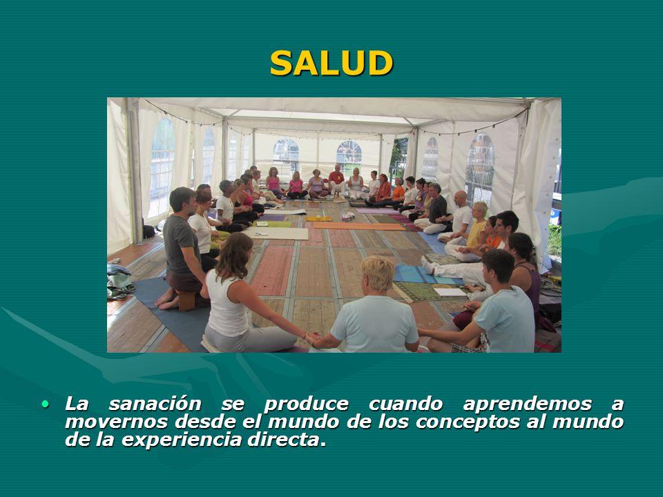 SALUD La sanación se produce cuando aprendemos a movernos desde el mundo de los conceptos al mundo de la experiencia directa.