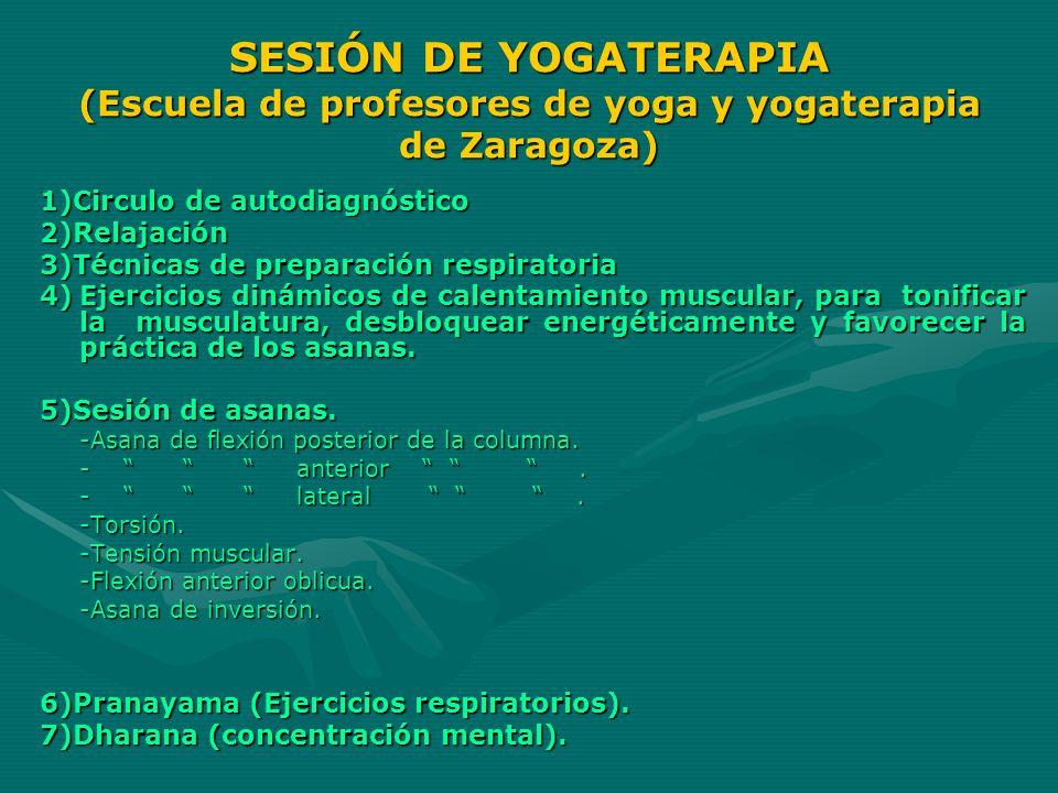 SESIÓN DE YOGATERAPIA (Escuela de profesores de yoga y yogaterapia de Zaragoza)
