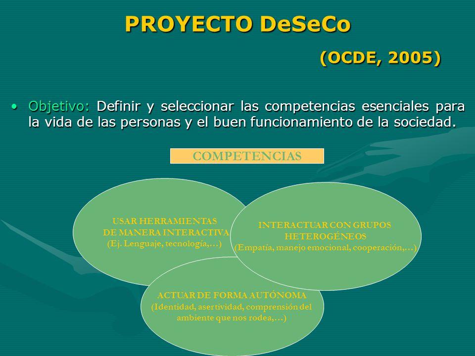 PROYECTO DeSeCo (OCDE, 2005)