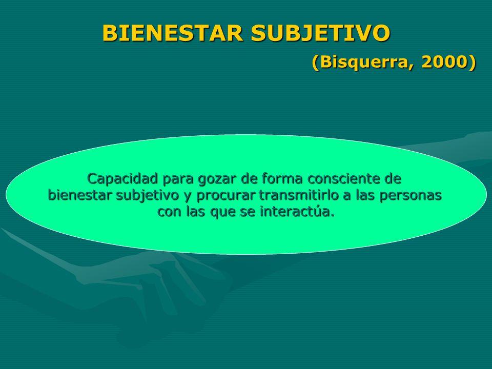BIENESTAR SUBJETIVO (Bisquerra, 2000)