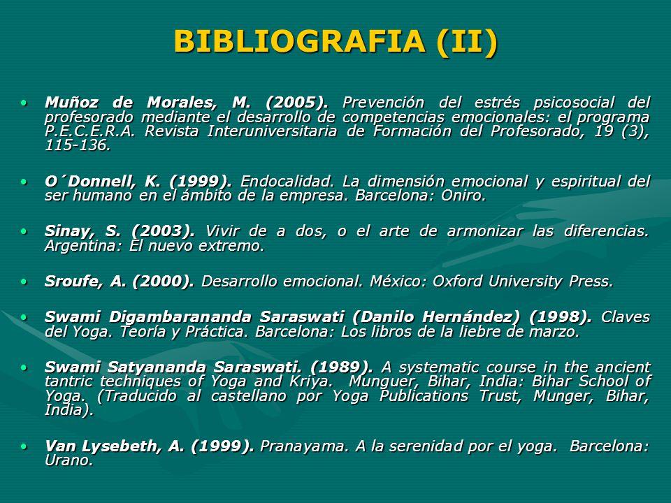 BIBLIOGRAFIA (II)