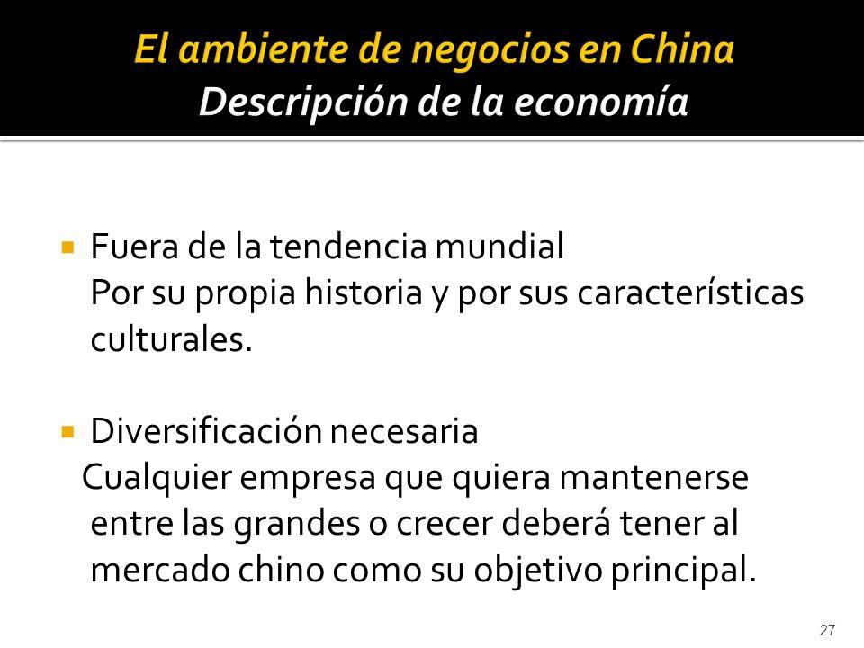 El ambiente de negocios en China Descripción de la economía