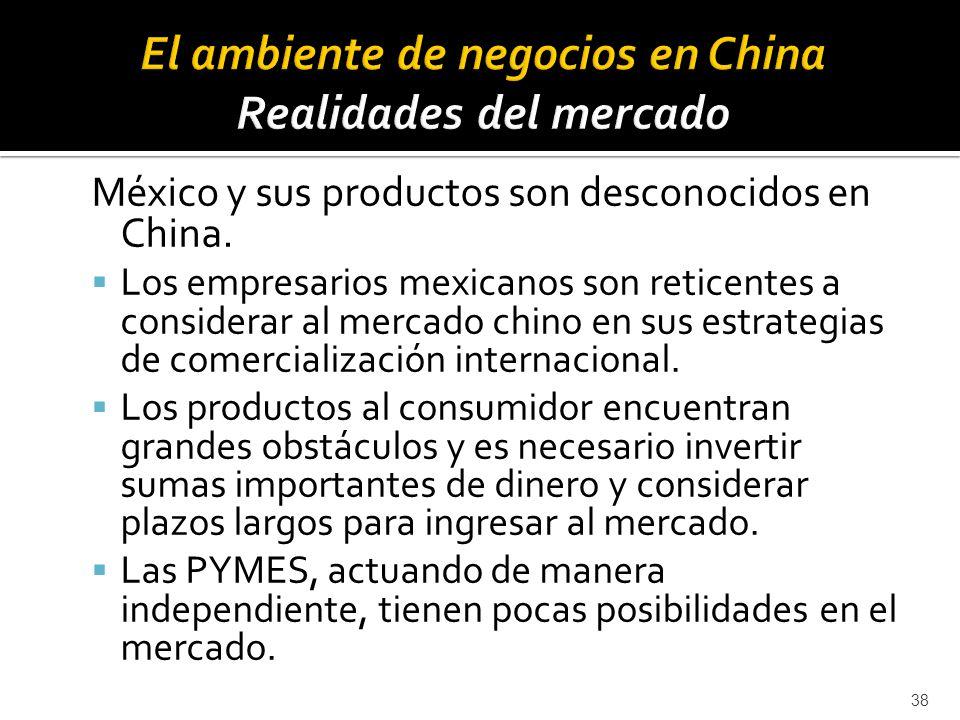El ambiente de negocios en China Realidades del mercado