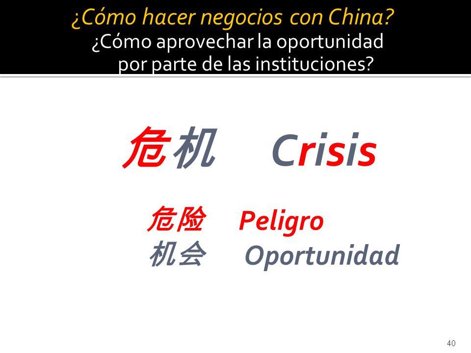 机会 Oportunidad C¿Cómo hacer negocios con China ¿c