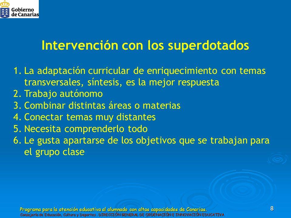 Intervención con los superdotados