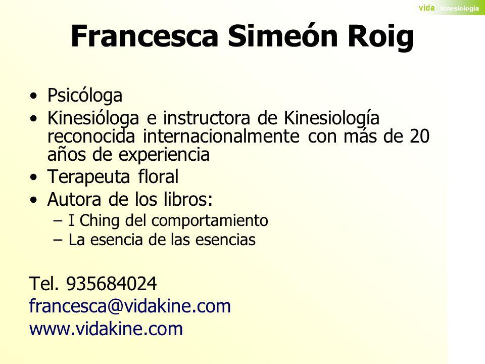 Francesca Simeón Roig Psicóloga