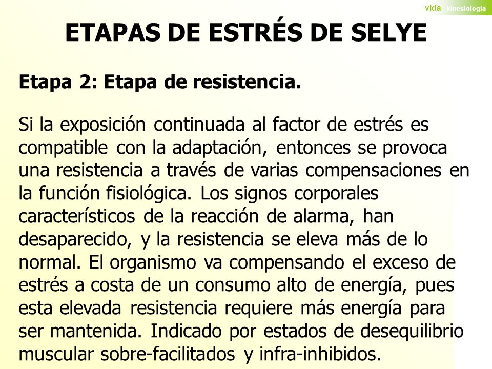 ETAPAS DE ESTRÉS DE SELYE