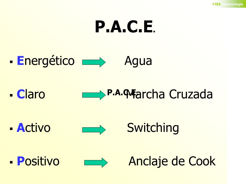 P.A.C.E. Energético Agua Claro Marcha Cruzada Activo Switching