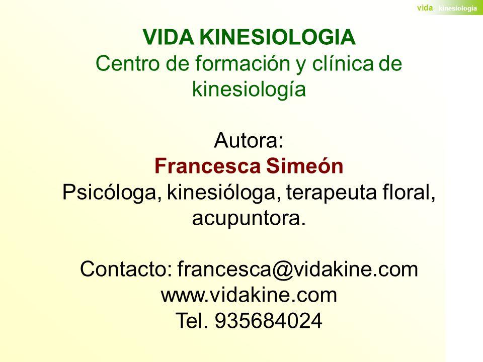 VIDA KINESIOLOGIA Francesca Simeón